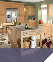 Natural oak kitchen island