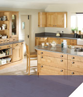 Rounded edged kitchen units fitting and design by Chepstow and Bulwark